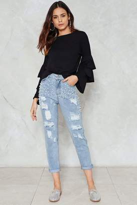 Nasty Gal Mama's Pearl Jeans