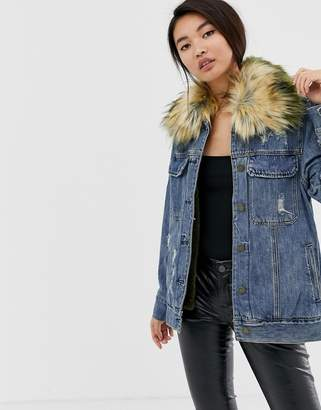 Blank NYC Group Love oversized denim jacket