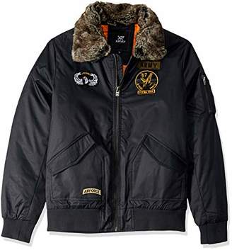 X-Ray Men's Slim Fit Flight Jacket with Removable Faux Fur Collar