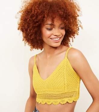 New Look Yellow Crochet Bralette