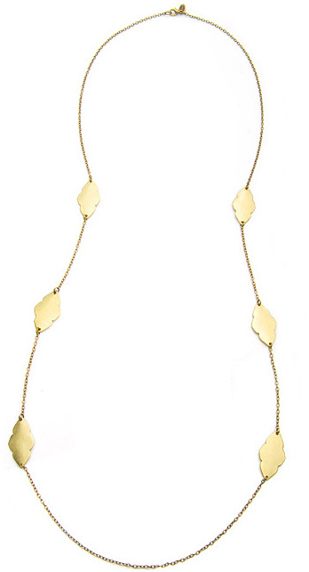 Marlyn Schiff Antique Gold Chain Necklace