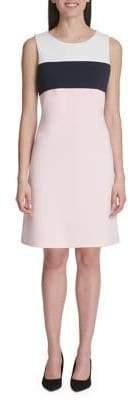 Tommy Hilfiger Pique Scuba Knit Colourblock A-line Dress