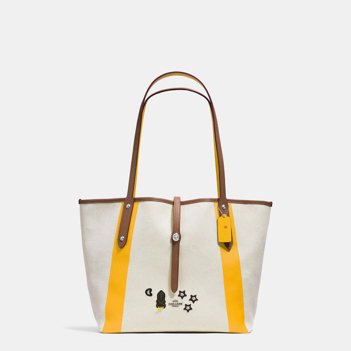 Coach   COACH Coach Market Tote In Canvas With Souvenir Embroidery