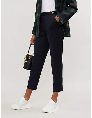 Claudie Pierlot Pascal cropped twill trousers