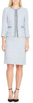 Tahari Arthur S. Levine Fringed Boucle Jacket and Skirt Suit