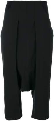 Rick Owens cropped drop crotch trousers