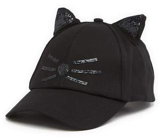 Collection XIIX Glittery Cat Baseball Hat