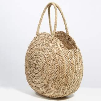 The White Company Seagrass Circular Basket Bag