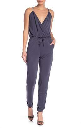 Couture Go Surplice Sleeveless Drawstring Waist Jumpsuit