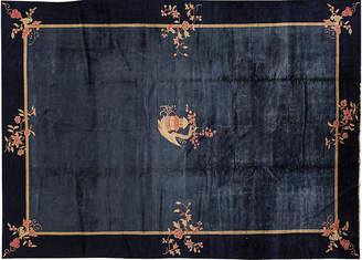 One Kings Lane Vintage Antique Chinese Peking Carpet - 10' x 14'