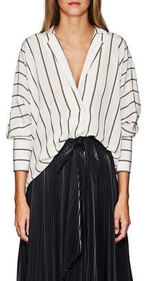 A.L.C. Women's Noreen Striped Silk Blouse - White