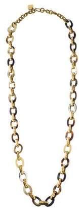 Ashley Pittman Horn Shamba Chain Necklace