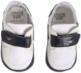 Armani Junior Cotton Canvas Shoes