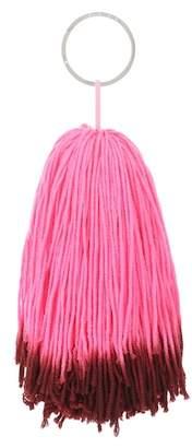 Calvin Klein Wool pompom bag charm