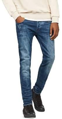 G Star 3301 Slim Fit Stretch Jeans in Dark Aged 86