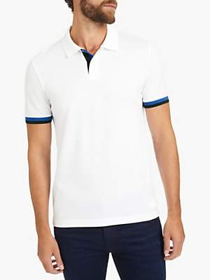 624bdc627951 at John Lewis and Partners · HUGO BOSS BOSS Phillipson 59 Polo Shirt, White