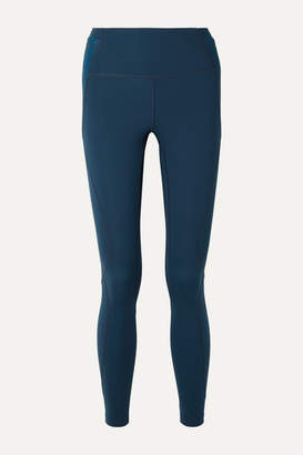 LNDR Distance Mesh-paneled Stretch Leggings - Petrol