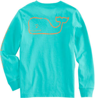 Vineyard Vines Boys Long-Sleeve Vintage Whale Graphic T-Shirt