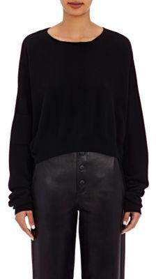 Helmut Lang Women's Crop Sweater-BLACK $415 thestylecure.com