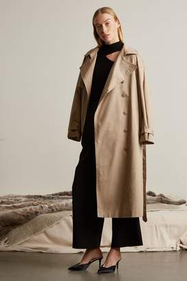 Genuine People Oversized Cotton Trench Coat