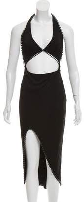 Alexander Wang Embellished Halter Dress