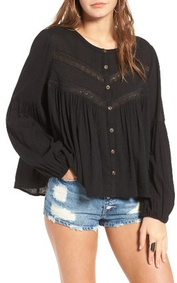 Women's Sun & Shadow Boho Swing Blouse $55 thestylecure.com