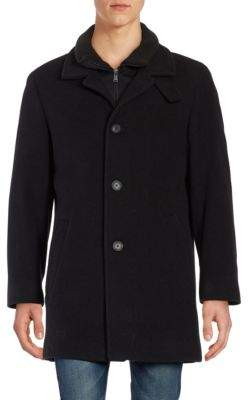 Calvin Klein Wool-Blend Gilet Car Coat