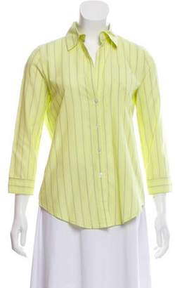Elizabeth and James Striped Button-Up Top