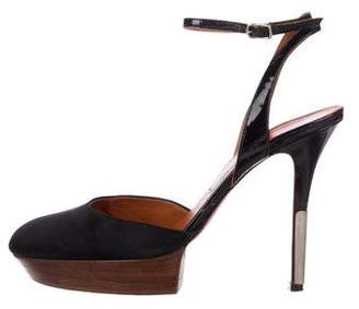 Lanvin Satin Ankle-Strap Pumps