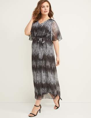 Lane Bryant Flutter Sleeve Maxi Dress