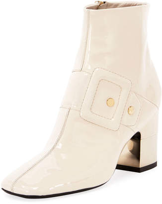 Roger Vivier Podium Illusion Buckle Leather Booties