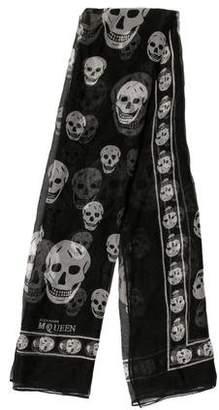 Alexander McQueen Skull Print Sheer Scarf