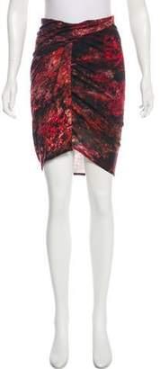 Helmut Lang Wool-Blend Knee-Length Skirt