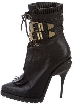 Alexander WangAlexander Wang Lace-Up Leather Ankle Boots