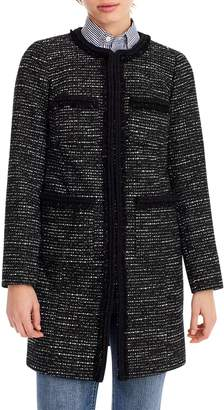 J.Crew Tweed Lady Coat With Braided Trim