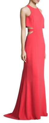 Halston Flowy Back Cutout Gown