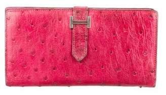Hermes Ostrich Bearn Wallet
