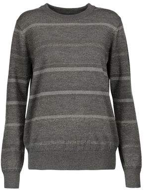 MiH Jeans Falls Striped Glittered Merino Wool-Blend Sweater