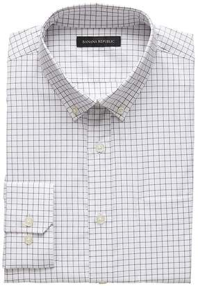 Banana Republic NEW Slim-Fit Tech-Stretch Cotton Grid Shirt
