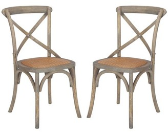 Ash Poly and Bark Cafton Crossback Chair in Weathered Oak (Set of 2)