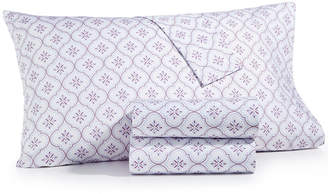 Martha Stewart Collection Closeout! Collection 4-Pc. Printed Full Sheet Set, 400 Thread Count 100% Cotton Percale, Created for Macy's Bedding