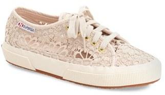 Women's Superga 'Cot' Macrame Sneaker $98.95 thestylecure.com