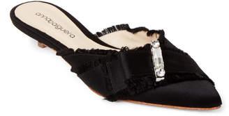 Anna Baiguera Embellished Bow Kitten Heel Mules