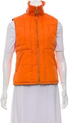 Tory Burch Rib-Knit Puffer Vest