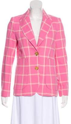 Smythe Plaid Peak-Lapel Blazer