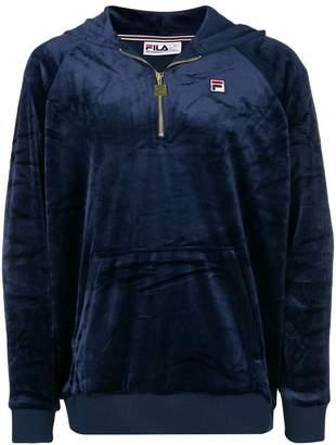 Fila half-zip velvet hoodie