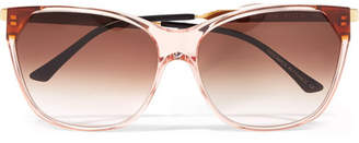 Thierry Lasry Jeopardy Cat-eye Acetate And Gold-tone Sunglasses - Pink