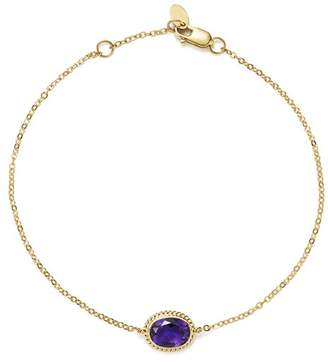 Bloomingdale's Amethyst Oval Bracelet in 14K Yellow Gold - 100% Exclusive