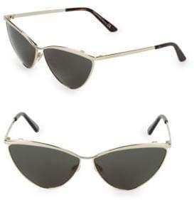 Balenciaga Goldtone 62MM Cateye Sunglasses