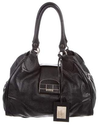 Calvin Klein Collection Embossed Leather Shoulder Bag